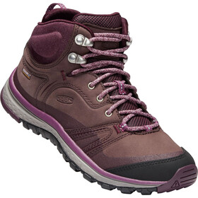 Keen Terradora Leather WP Mid Kengät Naiset, peppercorn/wine tasting